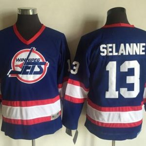 5b6ad871d Jets  13 Teemu Selanne Light Blue CCM Throwback Stitched Youth NHL Jersey  ...