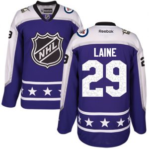 b600a9dc0 Jets #29 Patrik Laine Purple 2017 All-Star Central Division Stitched Youth NHL  Jersey