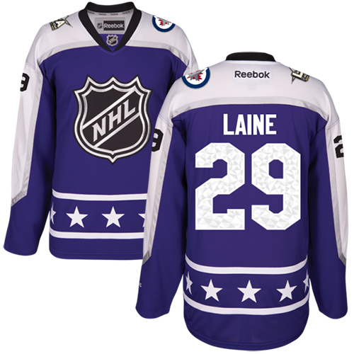 more photos cd88e d6eb1 Jets #29 Patrik Laine Purple 2017 All-Star Central Division Stitched Youth  NHL Jersey